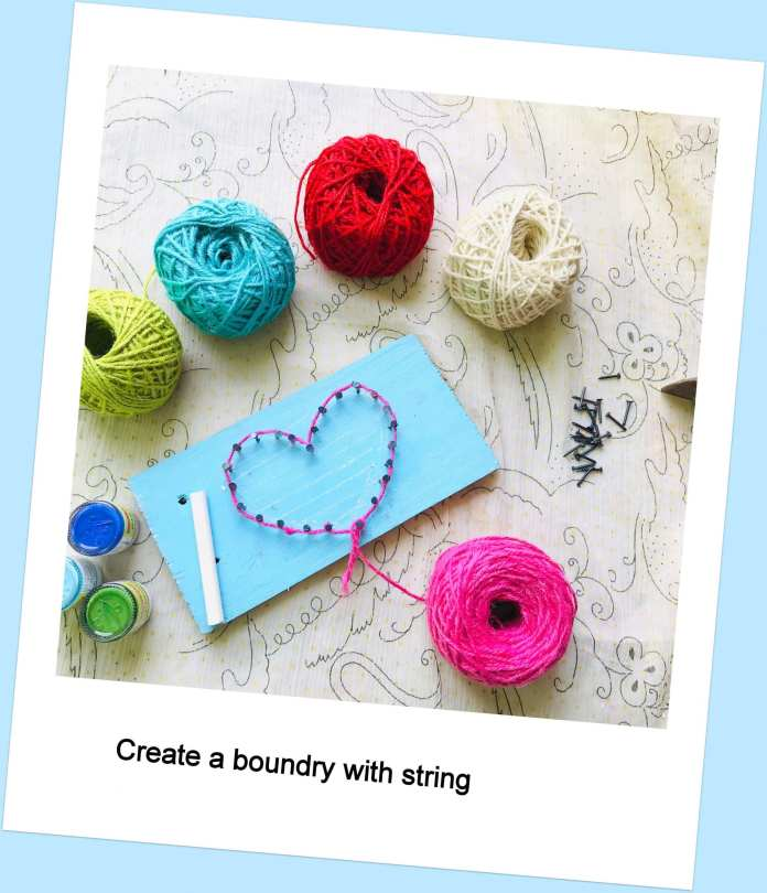 create boundary with string