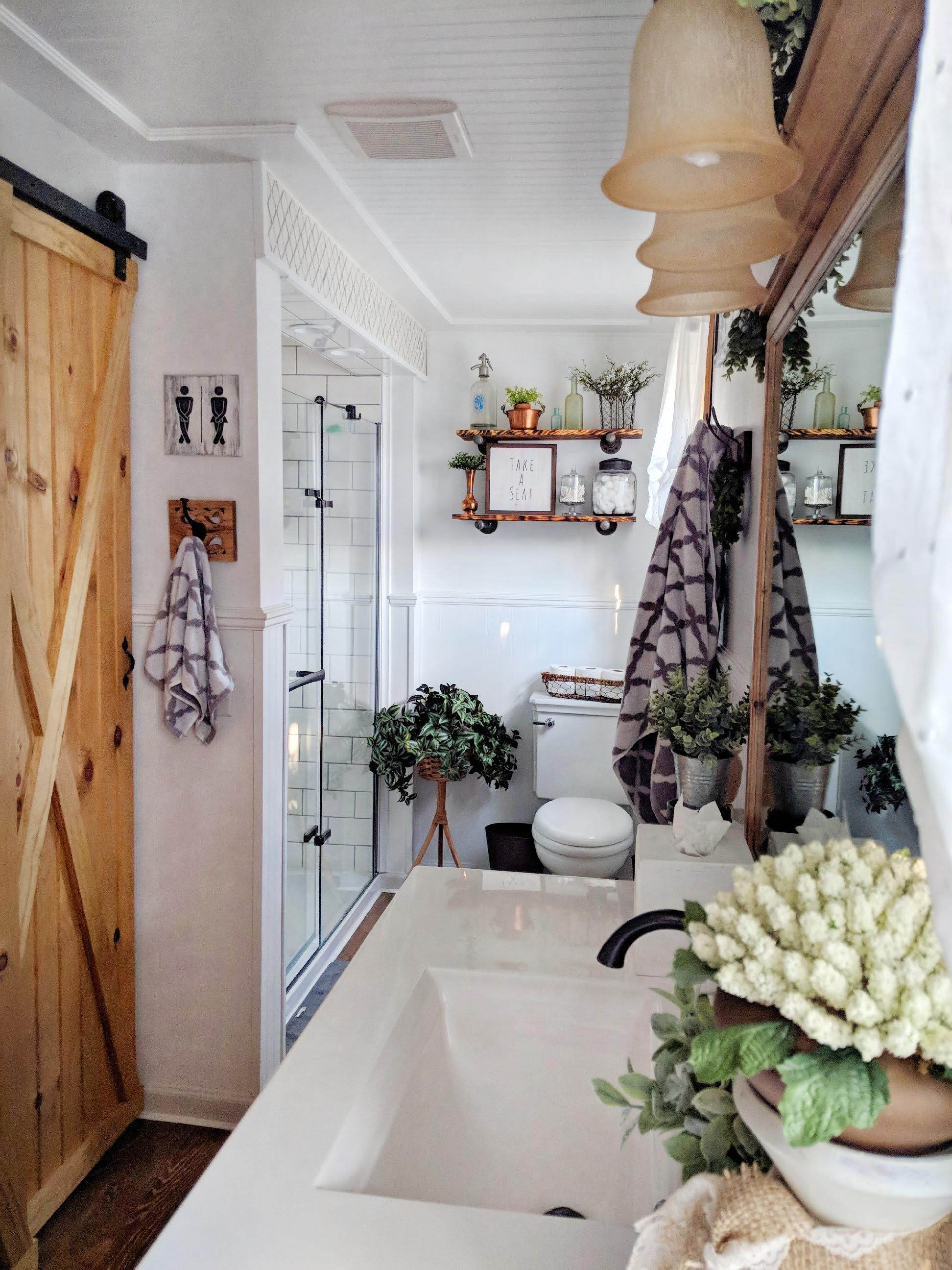 Guest Post: Bathroom Home Tour - Our Home with Hounds