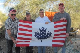 """""""Friends"""" flag, given to Roy by some Colorado friends"""