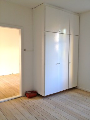 A built in wardrobe. Thank god because we didn't bring a dresser.
