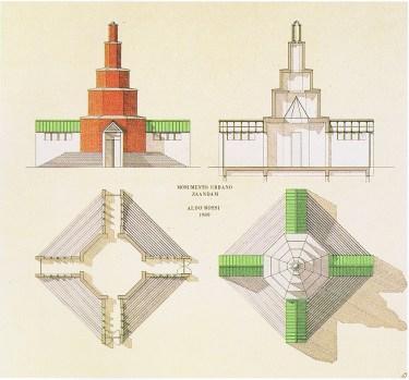 Rossi, Aldo. Monumento Urbano Zaandam (1989)