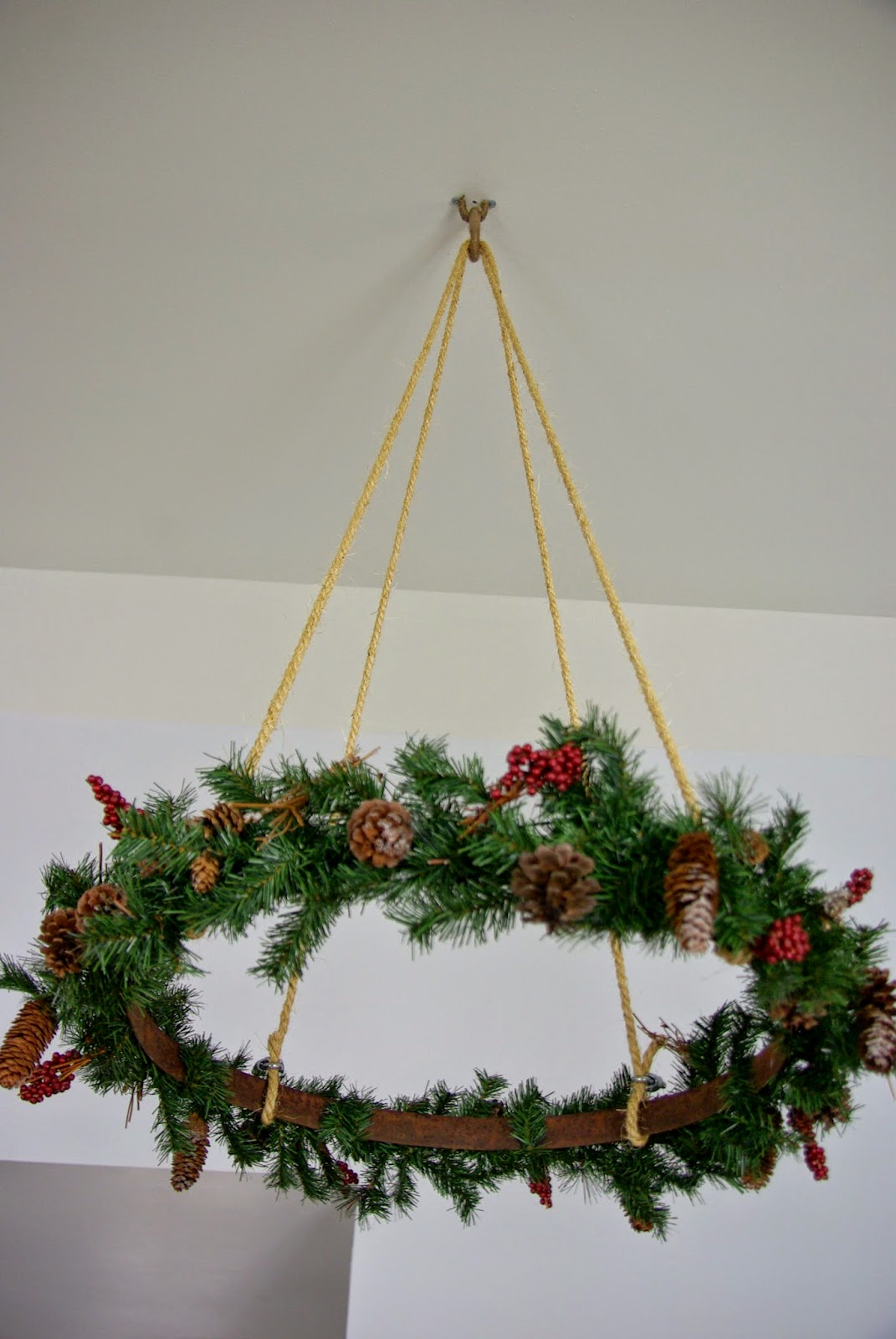 Ceiling Hanging Christmas Wreath Our House Now A Home