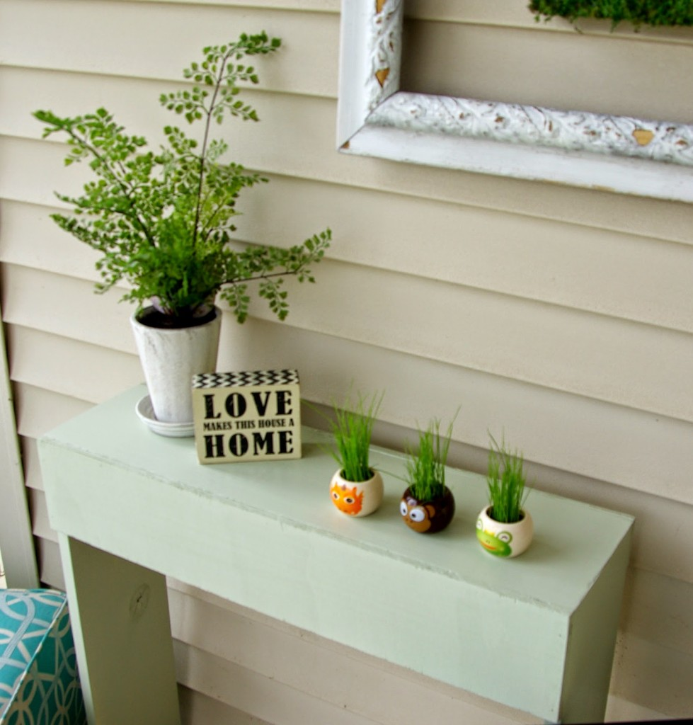 Front porch simple console table  Our House Now a Home