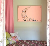 Girl bedroom wall art, a butterfly and canvas craft  Our ...