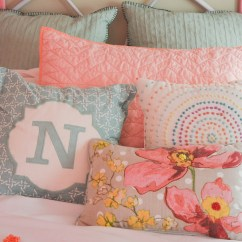 Bright Colored Sofa Pillows Wicker Sleeper And Colorful Girl Bedroom Small Changes With A Big