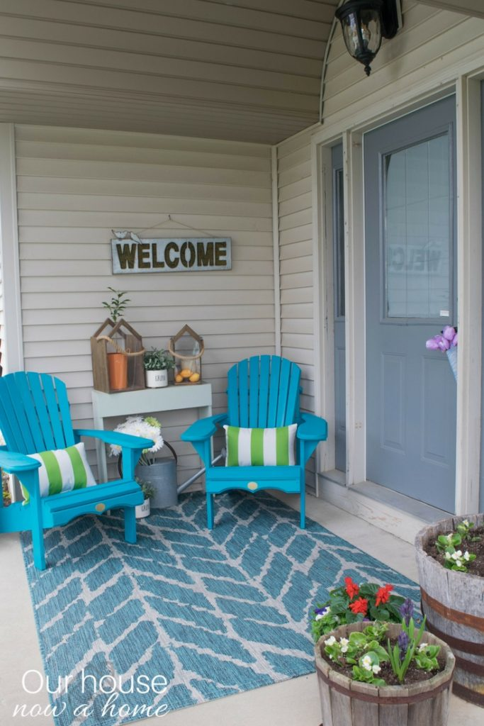 Front porch decorating ideas with the perfect Adirondack chairs  Our House Now a Home