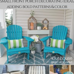 Plastic Adirondack Chair Hanging Patio Chairs Front Porch Decorating Ideas With The Perfect • Our House Now A Home