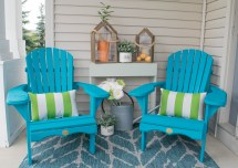 Front Porch Decorating Ideas with Adirondack Chairs