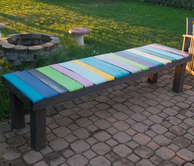 wood pallet furniture ideas. diy wood pallet bench, low cost and