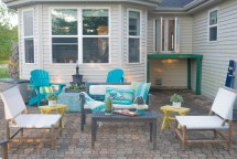 Turquoise Outdoor Patio Decorating Ideas