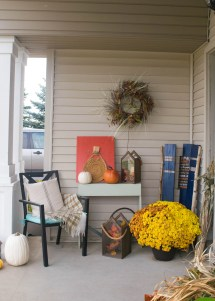 Fall Front Porch Mix Of Diy And Rustic Decor