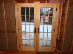 Patio door secured and insulated
