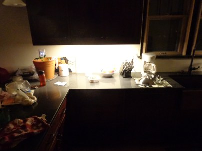 LED task lighting, east wall