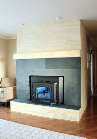 Fireplace Cover Up with Slate to Hall | Our Humble Abode