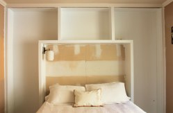 Reconfigure built in bookshelves to make a bed or seating nook: https://ourhumbleabodeblog.com/2013/03/13/12-more-inches/