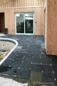 Pool-House-Slate-Tile-Setting-Near-Middle-Door