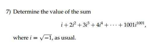 imaginary number adding question