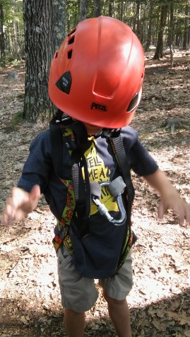 Getting Ready for the Kids' Zip Line at Family Campu