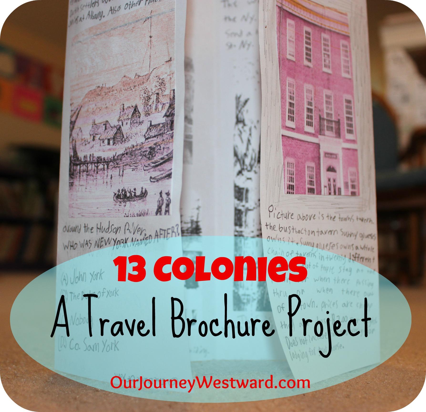 13 Colonies Travel Brochure Our Journey Westward