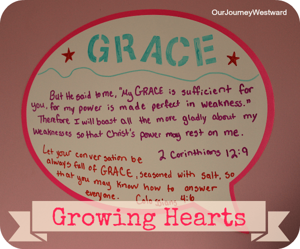 Growing Hearts with a Word of the School Year | Our Journey Westward
