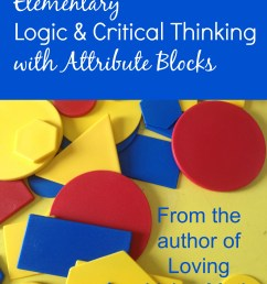 Living Math: Using Attribute Blocks - Our Journey Westward [ 3128 x 2346 Pixel ]