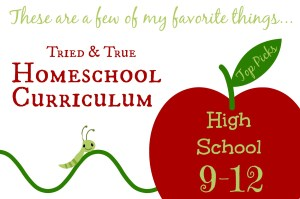 Cindy West's top curriculum choices for homeschooling high school.