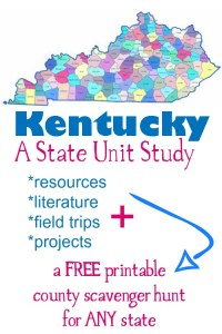 The Bluegrass State: A Kentucky Unit Study