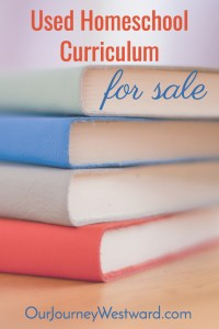 New Items Added! Used Homeschool Curriculum For Sale
