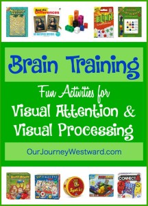Brain Training Activities for Visual Attention and Visual Processing