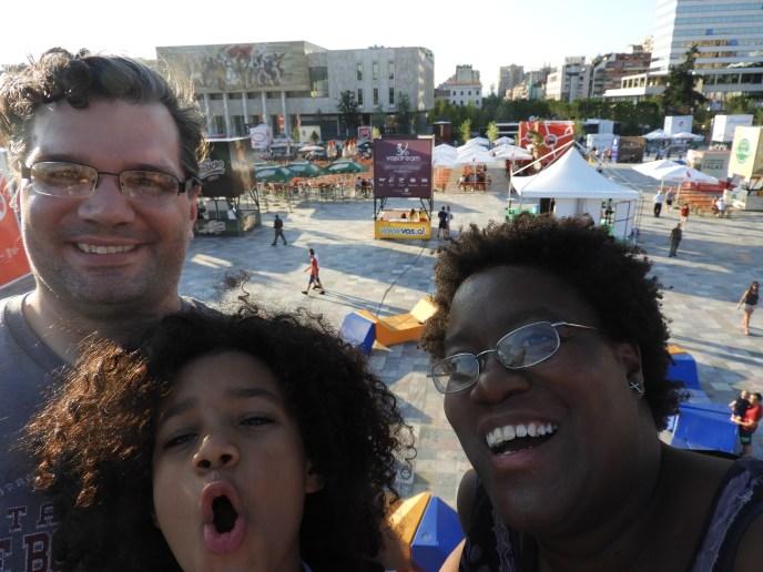 Family Selfie in Tirana