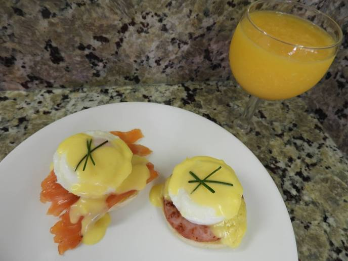 Homemade Eggs Benedict Brunch