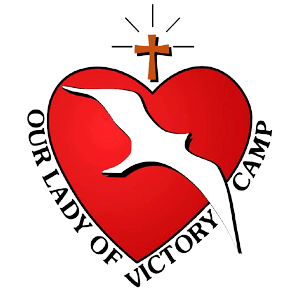 Our Lady of Peace - Catholic Church - Our Lady of Victory Camp Logo - Innisfail, Alberta