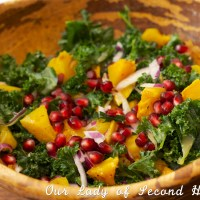 Roasted Squash & Pomegranate Salad with Homemade Vinaigrette