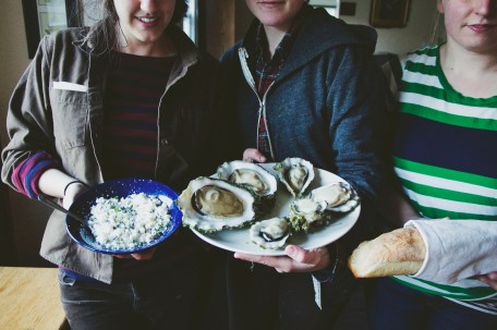 Interns bringing together their talents for a fancy supper