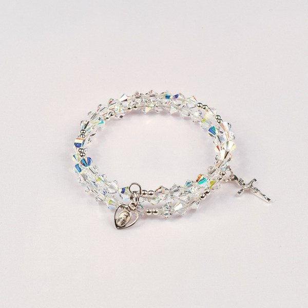 April Crystal Rosary Bracelet
