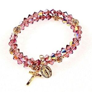 lenten oval rosary bracelet