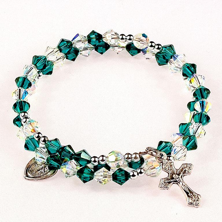 st patrick rosary bracelet