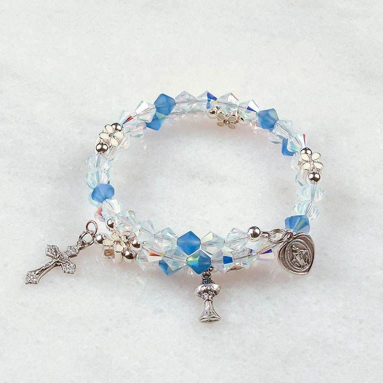 Full of Grace First Communion Rosary Bracelet