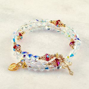 Immaculate Heart of Mary Rosary Bracelet