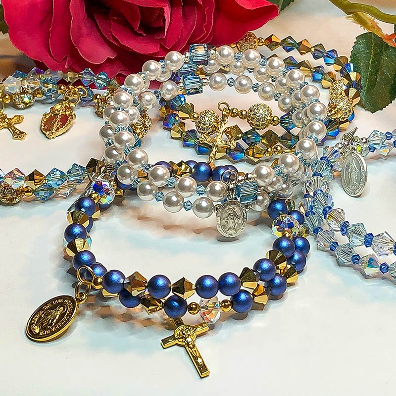 Month of Mary Rosary Bracelets
