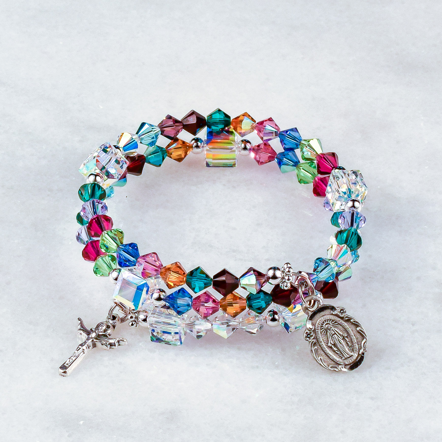 Mary, Mother of All Peoples Rosary Bracelet