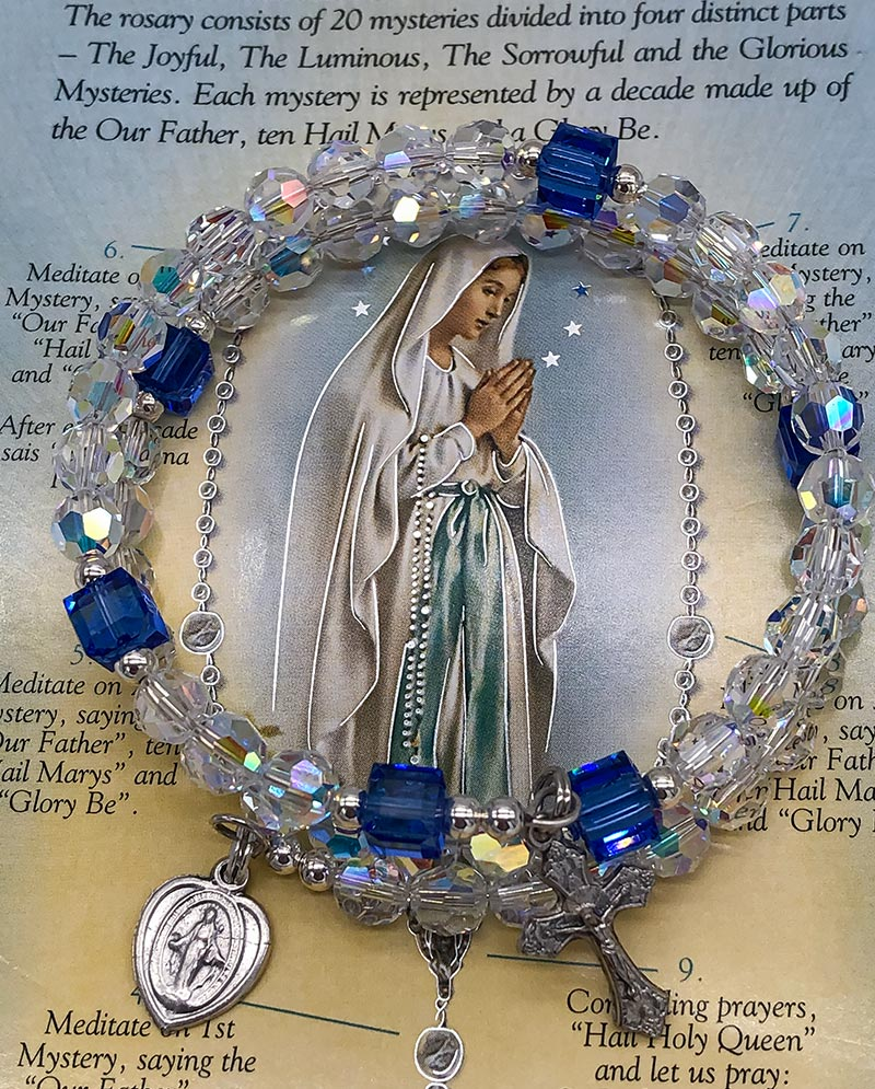 rosary bracelet our lady