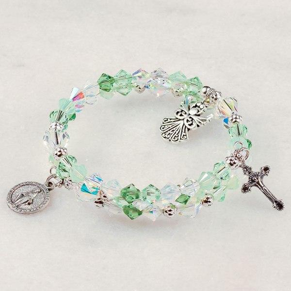 Guardian Angel Mint Rosary Bracelet