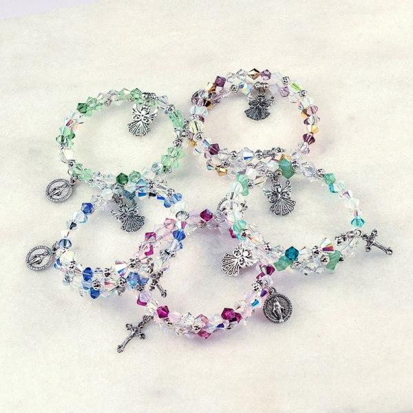 Guardian Angel Rosary Bracelets
