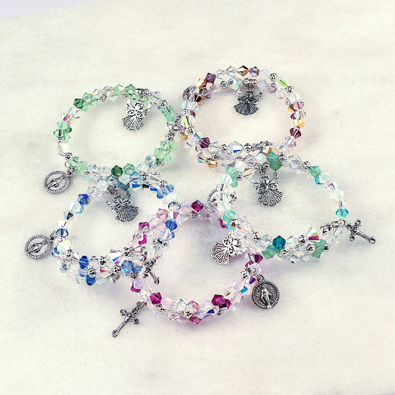 Guardian Angel Rosary Bracelets