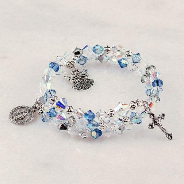 Guardian Angel Sapphire Rosary Bracelet