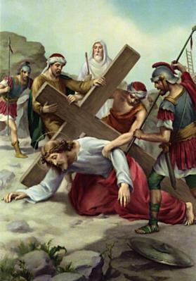 Gesù cade per la seconda volta