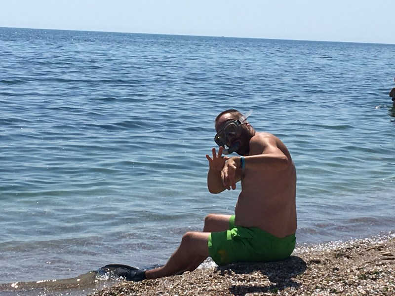 Team ourleapoffaith snorkelling off the coast of Bulgaria