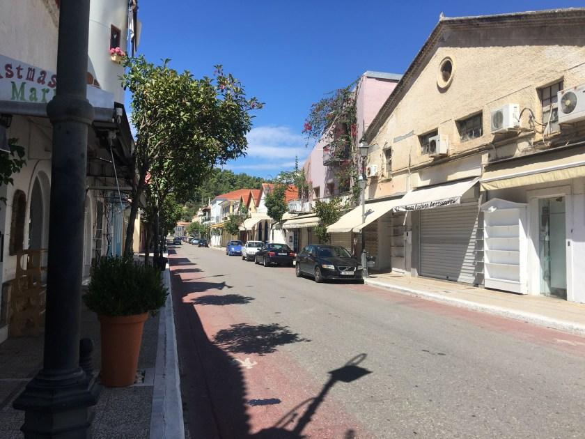 Shops all shut, Katakolon Greece