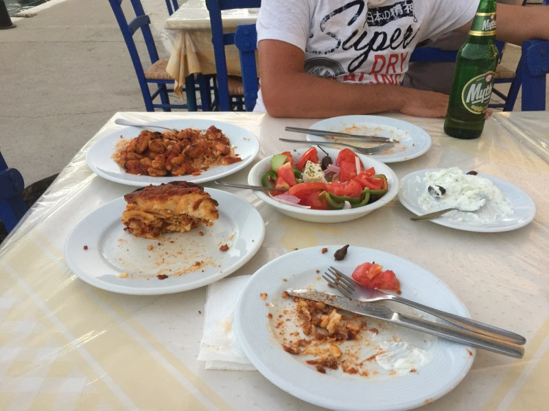 Left overs at hotel mike Epidaurus, Greece-